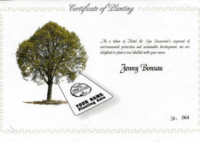 Certificate of Planting